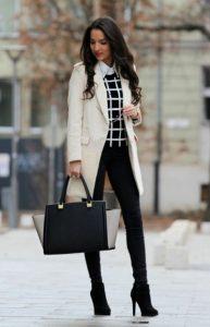 vestido elegante con leggings