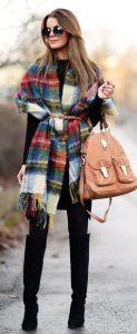 traje con bufanda