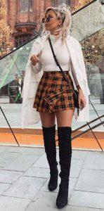conjunto con minifalda
