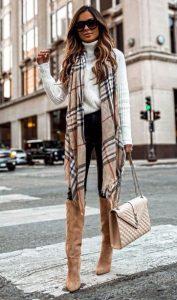 vestirse con una bufanda