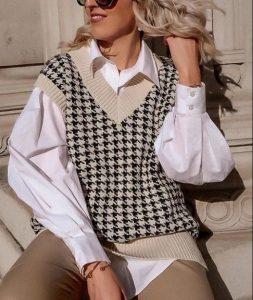 traje elegante con un chaleco