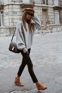 blusa de lana con bota