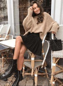 traje de invierno todos los días con falda