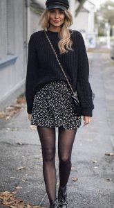 conjunto de invierno con minifalda