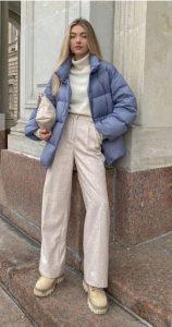 traje de invierno con chaqueta