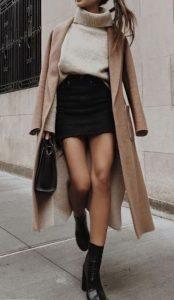 conjunto de invierno con falda