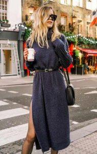 vestido de invierno gris