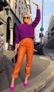 ropa de mujer con colores vivos