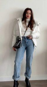 chaqueta de mujer blanca