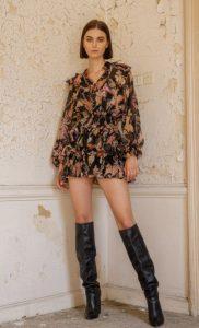 boho outfit black zini boots invierno 2021