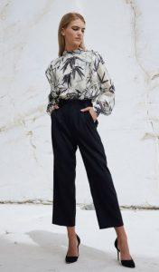 pantalón negro camisa blanco y negro zini invierno 2021
