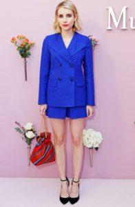pantalones cortos azules chaqueta ropa rubia colores