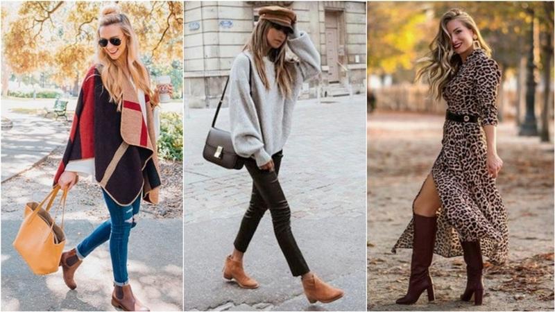 ¡Las 10 formas de combinar tus botas marrones!