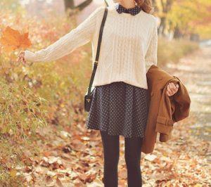 suéter de vestir de lunares