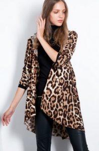 cárdigan de leopardo para mujer
