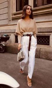 pantalones blancos blusa beige pantalones deben tener