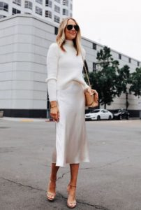 blusa de punto de ropa blanca