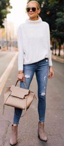 jeans con bengala blanca