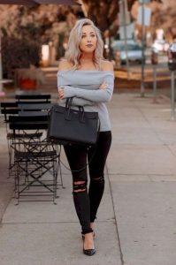 jeans con blusa