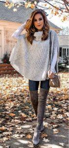 jeans con una blusa de lana