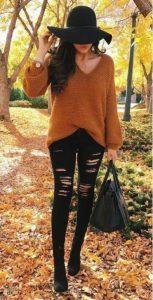 jeans negros con blusa