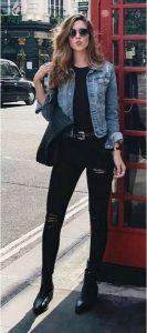total black con jeans
