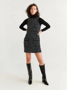 vestido corto de tweed