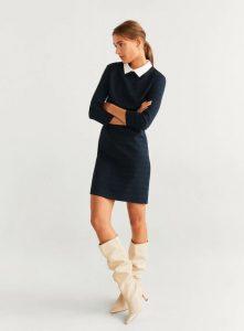 vestido corto con estampado