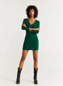 vestido verde ajustado