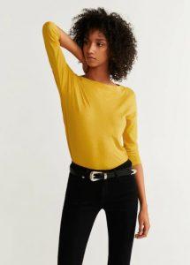 blusa amarilla de manga larga