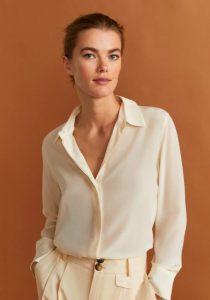 camisa crema