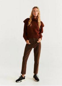 pantalones de pana marrón