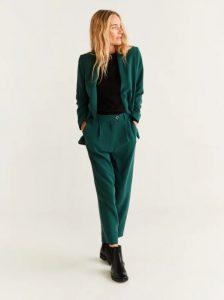pantalones largos de línea recta