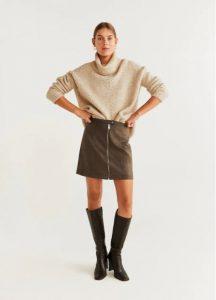 minifalda con cremallera