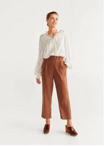 pantalones en línea recta