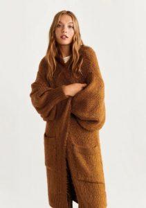 cárdigan largo de lana