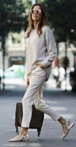 pantalones beige blusa beige ropa de invierno