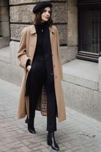 abrigo beige ropa negra ámbar beige ropa de invierno