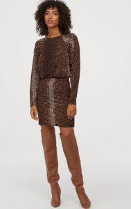 vestido de jersey corto de invierno