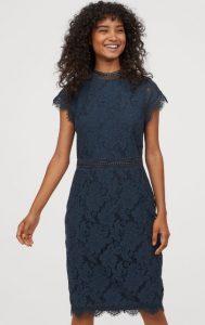 vestido de novia de encaje azul