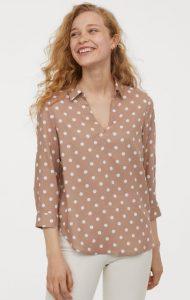 blusa de mujer de lunares todos los días