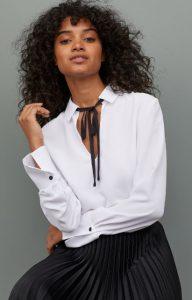 Blusa blanca de mujer invierno 2020