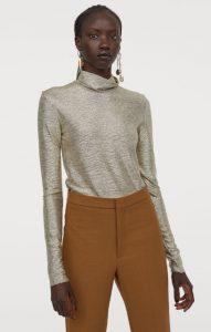 blusa plateada metalizada para mujer