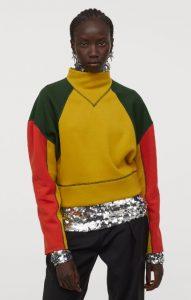 blusa tipo sudadera color block para mujer