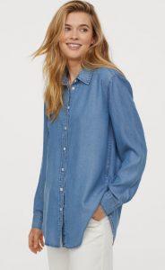 camisa de mezclilla de las mujeres