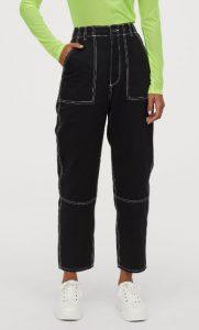 pantalones anchos de tobillo