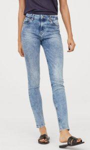 Pantalón de jean desgastado entallado para mujer