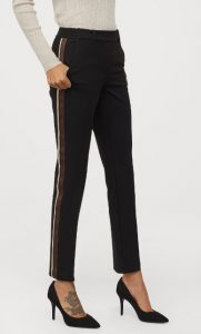 pantalón de mujer con raya en el lateral