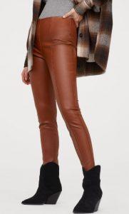 pantalones de cuero marrón para las mujeres