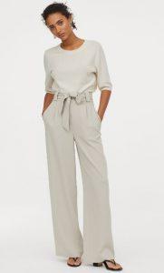 pantalón blanco de cintura alta ediva.gr